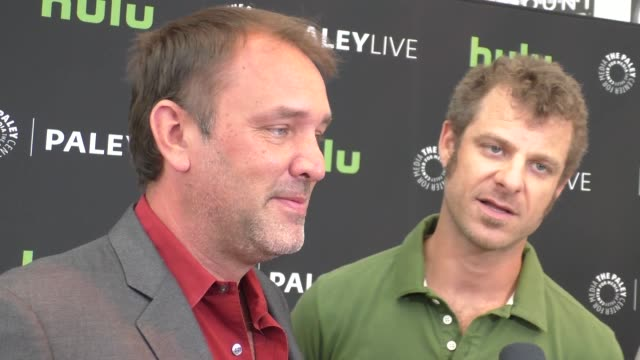 trey parker & matt stone talk about their show south park at the paley center for media presents special retrospective event honoring 20 seasons of... - paley center for media los angeles stock videos & royalty-free footage