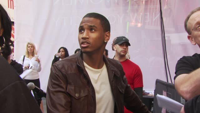 trey songz at new york ny - revlon stock videos and b-roll footage