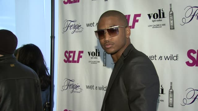 trey songz at self magazine celebrates the july music issue with cover star fergie at the hotel on rivington penthouse on june 05 2012 in new york... - penthouse magazine stock videos & royalty-free footage