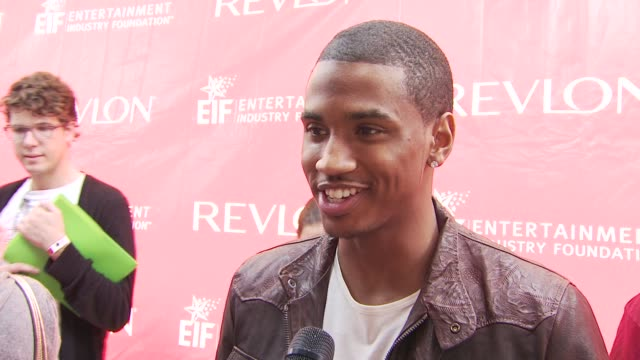 trey songz at the 13th annual eif revlon run/walk for women at new york ny - revlon stock videos and b-roll footage