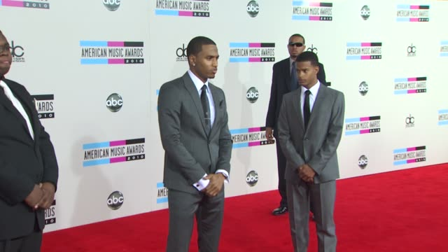 trey songz at the 2010 american music awards arrivals at los angeles ca - american music awards stock videos and b-roll footage