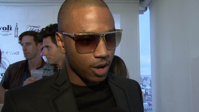 trey songz on his workout routine at self magazine celebrates the july music issue with cover star fergie at the hotel on rivington penthouse on june... - penthouse magazine stock videos & royalty-free footage