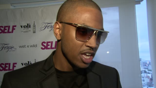 trey songz on music and fashion at self magazine celebrates the july music issue with cover star fergie at the hotel on rivington penthouse on june... - penthouse magazine stock videos & royalty-free footage