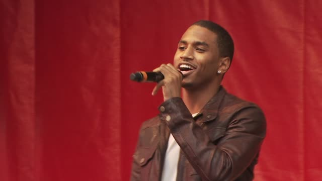 trey songz performs at the 13th annual eif revlon run/walk for women at new york ny - revlon stock videos and b-roll footage