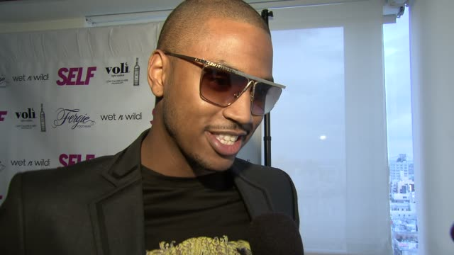 trey songz talks about his fan club treyz angels at self magazine celebrates the july music issue with cover star fergie at the hotel on rivington... - penthouse magazine stock videos & royalty-free footage