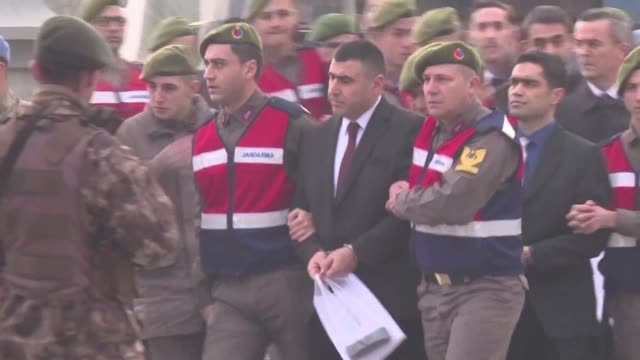 trial begins for 47 people accused of trying to assassinate president recep tayyip erdogan during the july coup attempt - coup d'état stock videos & royalty-free footage