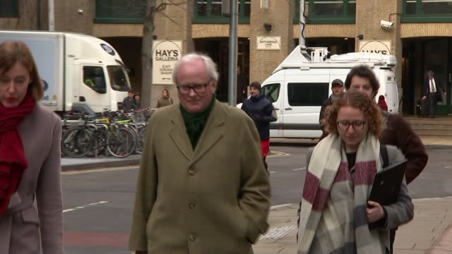 trial of four barclays executives accused of making secret payments to qatar begins england london southwark crown court ext john varley arriving at... - privatfahrzeug stock-videos und b-roll-filmmaterial