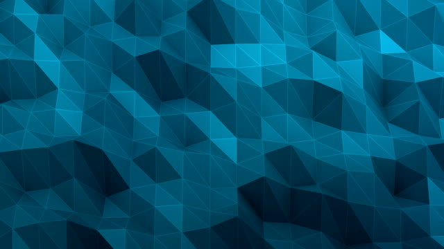 Triangle abstract blue background