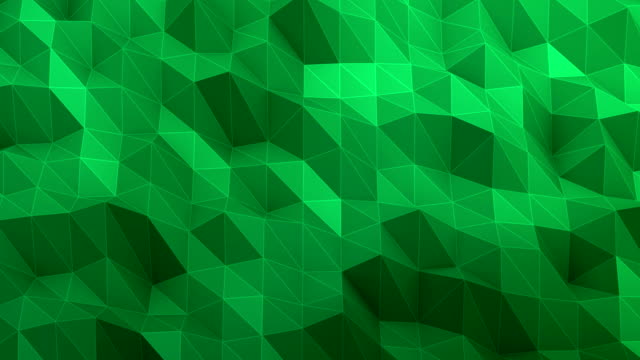 Triangle abstract green background