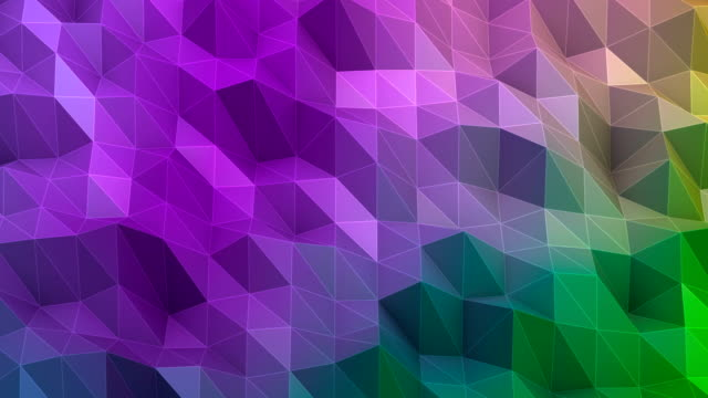 triangle abstract multicolored background - multi coloured stock videos & royalty-free footage