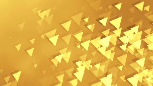 4k triangle background loopable - yellow background stock videos and b-roll footage