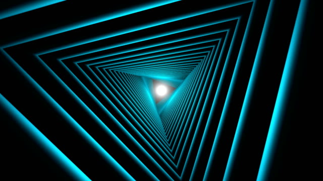 Triangle Future Space Tunnel. A Science Fiction Composition