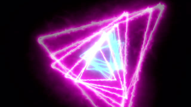 triangle geometry vj loop - video jockey stock videos & royalty-free footage
