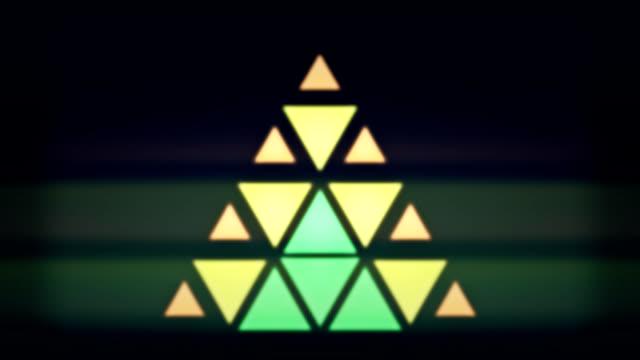 triangle pixel lights - video jockey stock videos & royalty-free footage
