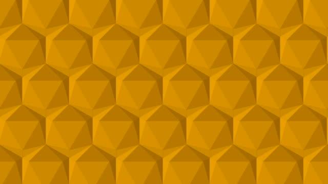 vídeos de stock, filmes e b-roll de triângulo poli da cor azul - rombo