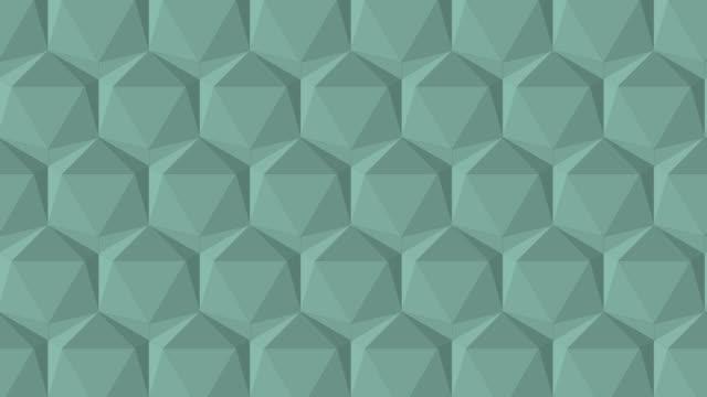 vídeos de stock, filmes e b-roll de triângulo poli da cor cinzenta - rombo