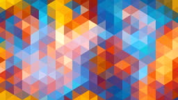 Triangles mosaic loop. Modern abstract multi-colored pixellated background.
