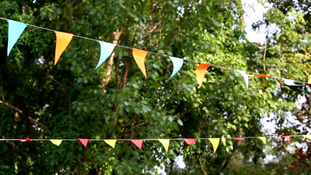 triangular bunting flags decoration