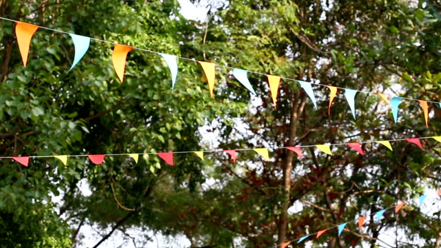 triangular bunting flags decoration