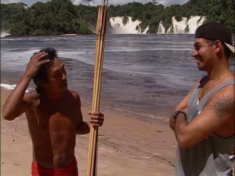 tribal man talking to a young man - goatee stock videos & royalty-free footage