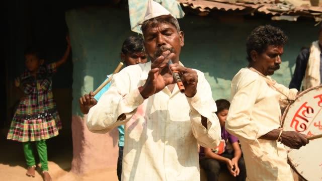 Tribals Dance and Music, Maharashtra, India.