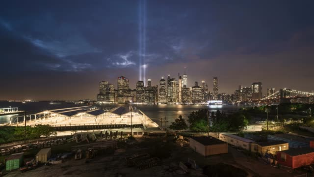 tribute in light day to night time lapse - september stock videos and b-roll footage