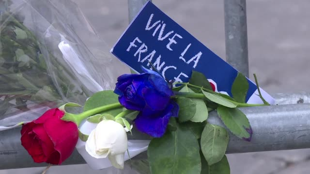 Tributes are made to the victims of the Nice attacks at the French embassy in Rome