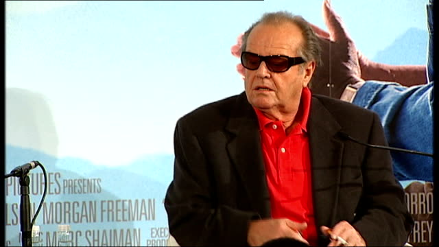 tributes to actor heath ledger; london: int press conference to promote film 'the bucket list' starring jack nicholson and morgan freeman jack... - jack nicholson stock videos & royalty-free footage