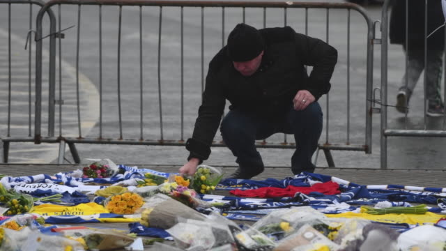 Tributes to Emiliano Sala at the Cardiff City Stadium on January 25 2019 in Cardiff Wales Emiliano Sala is one of two people who boarded a Piper...