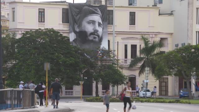 Tributes to the recently deceased Fidel Castro in Havana Cuba