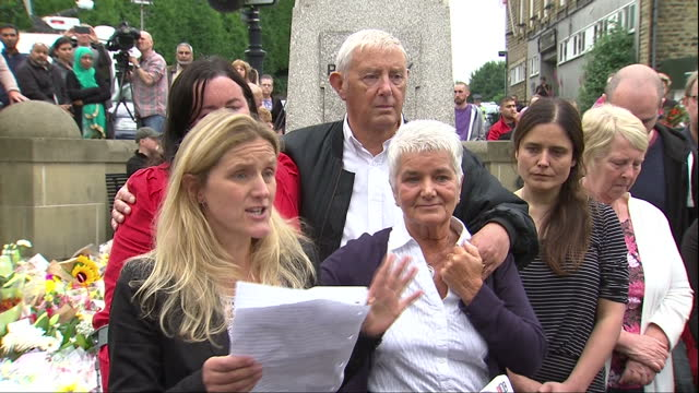 tributes will be paid to jo cox in church services across the country today yesterday the mp's sister addressed the crowd in the town where she died... - jo cox politician stock videos and b-roll footage
