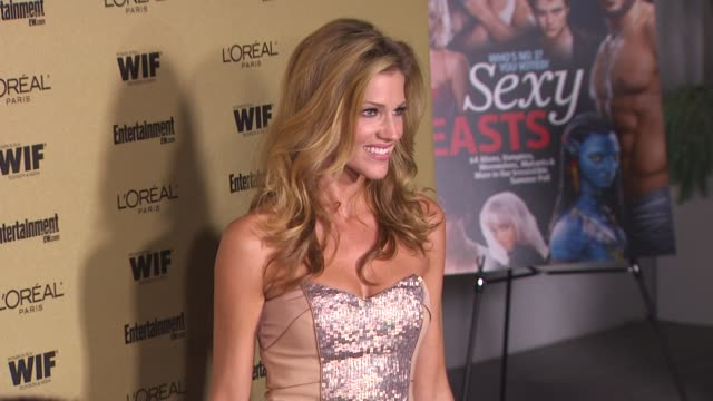tricia helfer at the entertainment weekly and women in film pre-emmy party at west hollywood ca. - pre emmy party stock videos & royalty-free footage