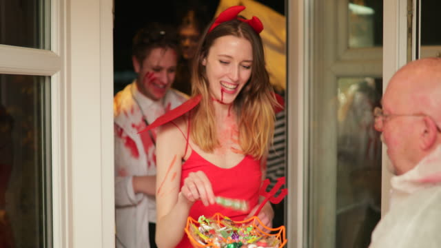 trick or treat! - serene people stock videos & royalty-free footage