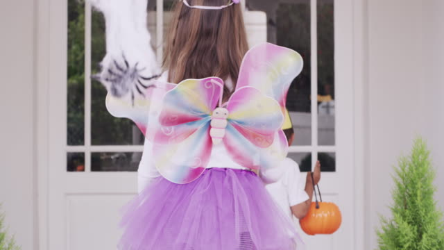 trick or treating is so much fun - halloween stock videos & royalty-free footage