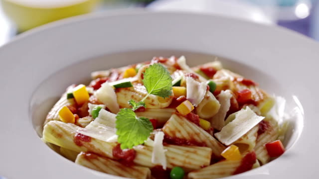 pasta tricolore - parmesan stock videos & royalty-free footage