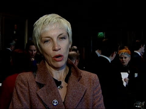interviews with celebrities opposed to nuclear arms annie lennox interview sot on significance to taxpayers of spending 76 million pounds of public... - vulnerability stock videos and b-roll footage