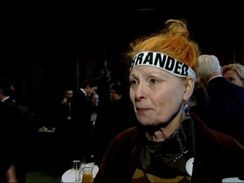 interviews with celebrities opposed to nuclear arms vivienne westwood interview sot on leafletting outside parliament since early in the morning/ on... - westwood stock-videos und b-roll-filmmaterial