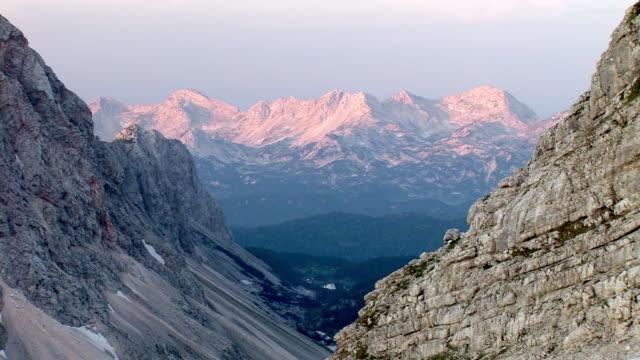 ms, zo, triglav lakes valley in morning light, triglav national park, gorenjska, slovenia - triglav national park stock videos and b-roll footage