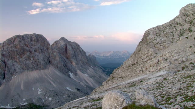 ms, pan, triglav lakes valley, triglav national park, gorenjska, slovenia - triglav national park stock videos and b-roll footage