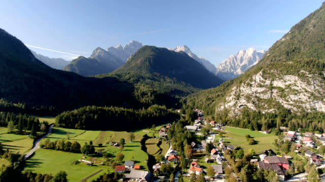 triglav national park with river gorges, ravines, lakes, rivers, waterfalls, forests and alpine meadows / aerial drone view - slovenia stock videos & royalty-free footage