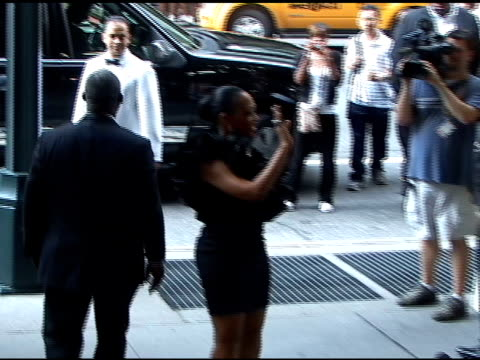 vídeos de stock e filmes b-roll de trina attending wedding at cipriani's 42nd street restaurant at the celebrity sightings in new york at new york ny - atlântico central eua