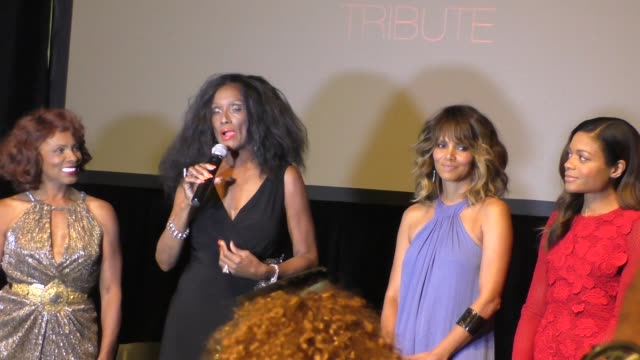 interview trina parks on being a bond girl at the spectre the black women of bond tribute at california african american museum on 11/3/2015 in los... - bond girl fictional character stock videos & royalty-free footage