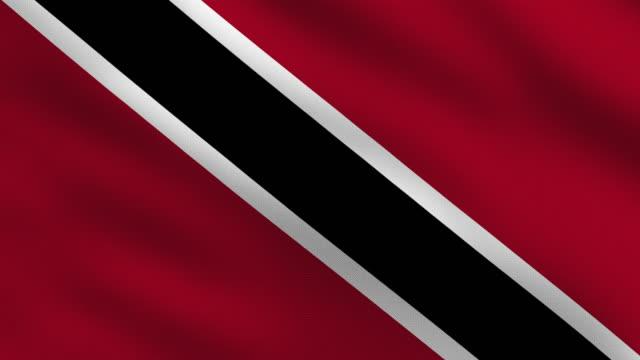 trinidad and tobago flag - trinidad trinidad and tobago stock videos & royalty-free footage
