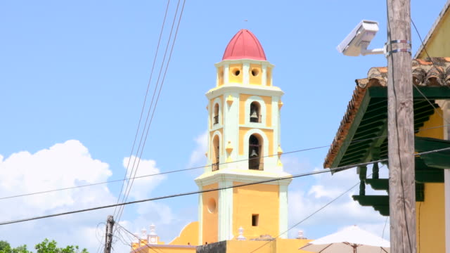 Trinidad, Cuba: bell tower of Saint Francis of Assisi convent or church in the main colonial plaza of the village. The famous place is a Unesco World Heritage Site