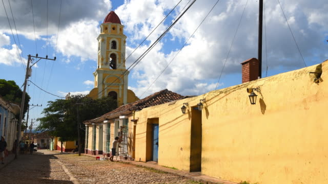trinidad, cuba: bell tower of the former convent saint francis of assisi - former stock videos & royalty-free footage