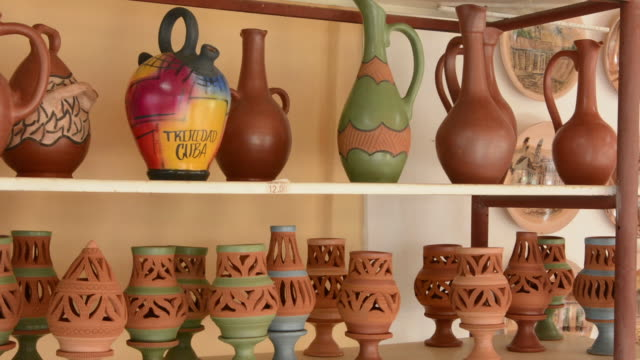 Trinidad Cuba clay pottery business selling vases and artwork