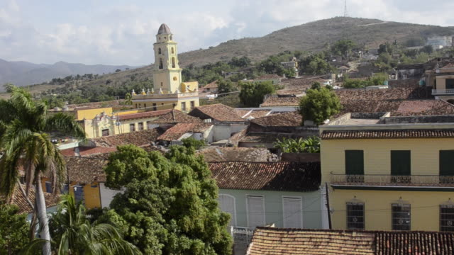 trinidad cuba panoramic of the old colonial city from above - sancti spiritus province stock videos and b-roll footage