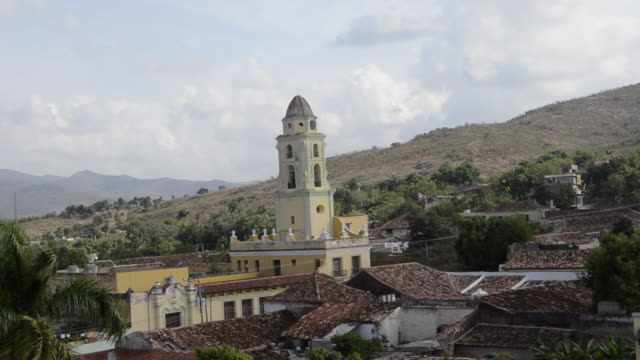 trinidad cuba panoramic of the old colonial city from above zoom - sancti spiritus province stock videos and b-roll footage