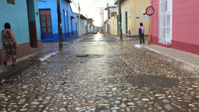 Trinidad, Cuba: Walking the cobblestone streets of the colonial village, point of view image
