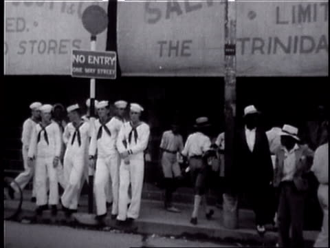 1932 trinidad street scenes - west indies stock videos & royalty-free footage